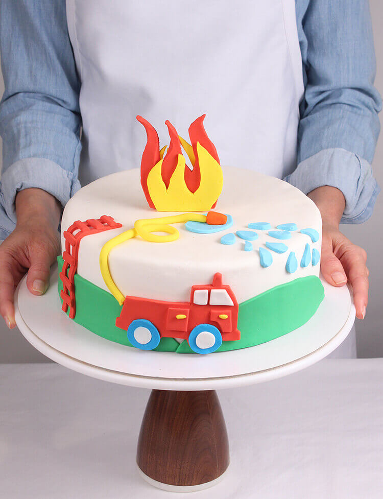 Fire Truck Birthday Cake Decorating