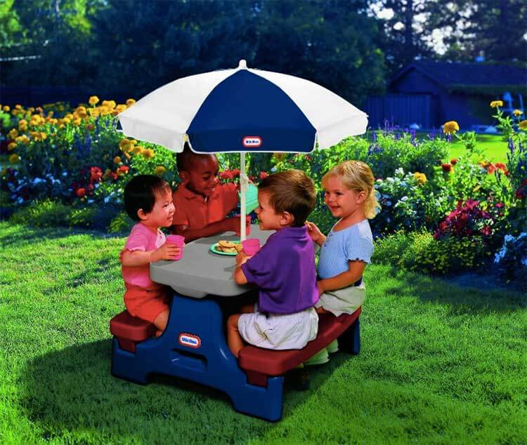 Easy store little tikes table