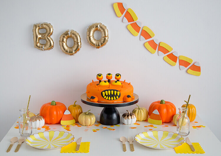 scary food decorations monster cake